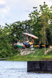 Man Wakeboarding. Jumping Stock Image