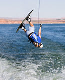 Man wakeboarding at Lake Powell 04 Stock Photos