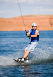 Man wakeboarding at Lake Powell 11 Royalty Free Stock Photos