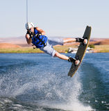 Man wakeboarding at Lake Powell 12 Royalty Free Stock Images