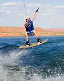 Man wakeboarding at Lake Powell 15 Stock Image