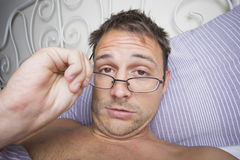 Man waking up Royalty Free Stock Images
