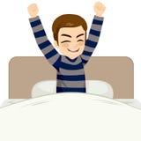 Man Waking Up Happy Royalty Free Stock Image