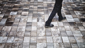 Man walk background Royalty Free Stock Photography