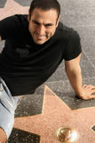 Man on walk of fame stock images