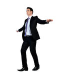 Man walk on imaginary rope. Business man walk on imaginary rope Royalty Free Stock Photo