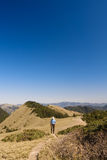 Man walk in the mountain Royalty Free Stock Photography