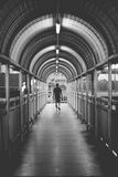 The man walk on the overpass alone Royalty Free Stock Image
