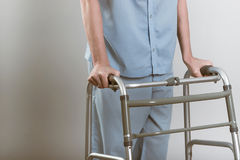 Man with walker Stock Images