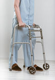 Man with walker Royalty Free Stock Photography