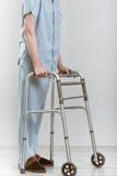 Man with walker Stock Photos