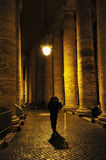 Man Walking Alone In Rome, Italy Stock Image