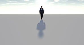 Man walking alone Royalty Free Stock Images