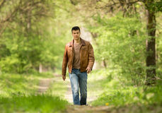 Man walking Stock Images