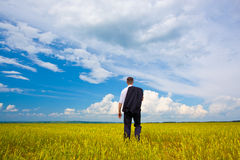 Man walking away Stock Photo