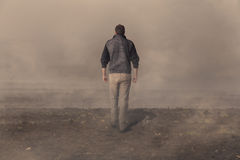 Man walking away Stock Photography