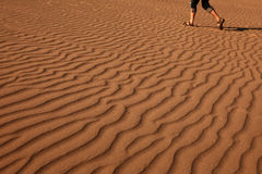 Man walking on the beautiful sand Royalty Free Stock Photography