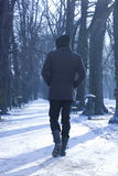 Man Walking Down The Alley Royalty Free Stock Photos
