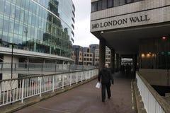 Man walking at London Wall, England Royalty Free Stock Images