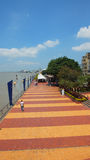 Man walking on the Malecon 2000. Guayaquil, Guayas / Ecuador - September 4 2016: Man walking on the Malecon 2000. This is a project of urban regeneration of the Royalty Free Stock Images