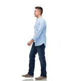 Man walking. Motion and people concept - man walking Royalty Free Stock Photos