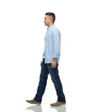 Man walking. Motion and people concept - man walking Royalty Free Stock Images