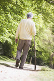 Man walking outdoors Stock Images