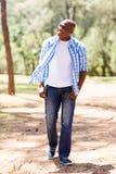 Man walking park Stock Image