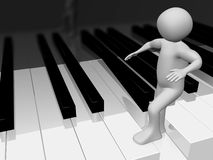 Man walking on the piano2 Royalty Free Stock Image