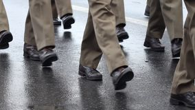 Man Walking in Shoes stock footage