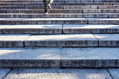 Man walking step on stair Royalty Free Stock Images