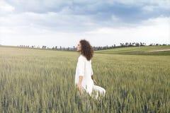 Free Man Walking Through Field With Epiphanic Realization Stock Photos - 114220273