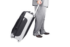 Man Walking with Travel Bag Stock Photo