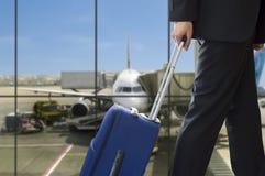 Man walking travel bag Stock Photography