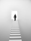 Man walking up the stairs Royalty Free Stock Photography