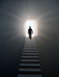 Man walking up the stairs Royalty Free Stock Photos