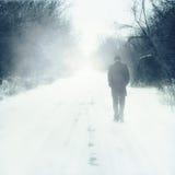 Man walks alone Royalty Free Stock Photography