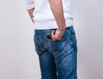 Man with wallet Royalty Free Stock Photos