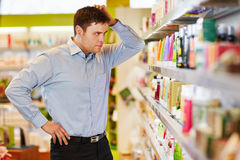 Man wants to do sustainable shopping Royalty Free Stock Photo