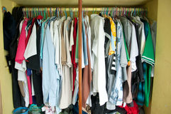 Man wardrobe Stock Image