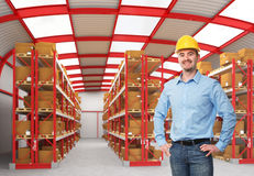 Man in warehouse Stock Photos