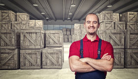 Man in warehouse Stock Photography
