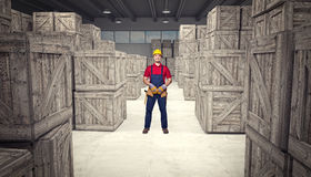 Man in warehouse Royalty Free Stock Photos