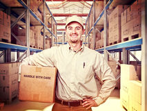 Man in warehouse Royalty Free Stock Image