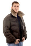 Man with warm clothing Royalty Free Stock Photos