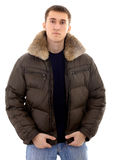 Man with warm clothing Stock Photos