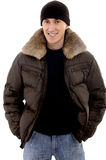 Man with warm clothing Royalty Free Stock Photography