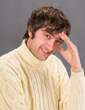 Man in warm sweater Royalty Free Stock Images