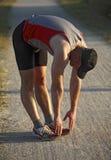 Man warm up before run Stock Image