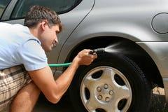 Man Washing Car Royalty Free Stock Photography